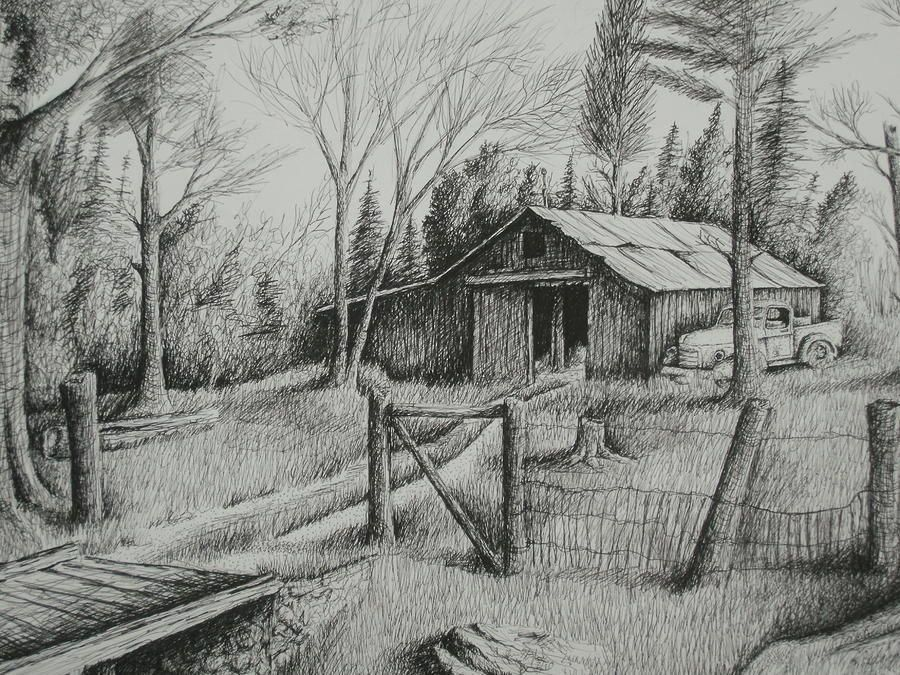 old barn drawings mas barn and truck drawing best garden rh pinterest com