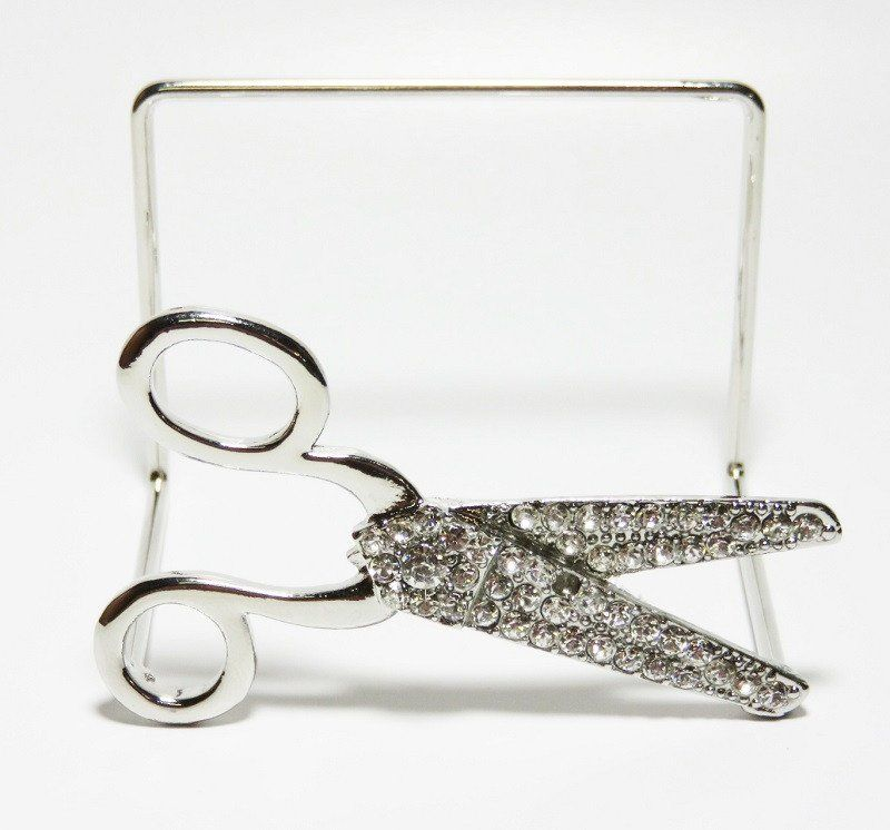 Rhinestone scissors appointmentbusiness card holder hair stylist rhinestone scissors appointmentbusiness card holder hair stylistgroomer colourmoves Images