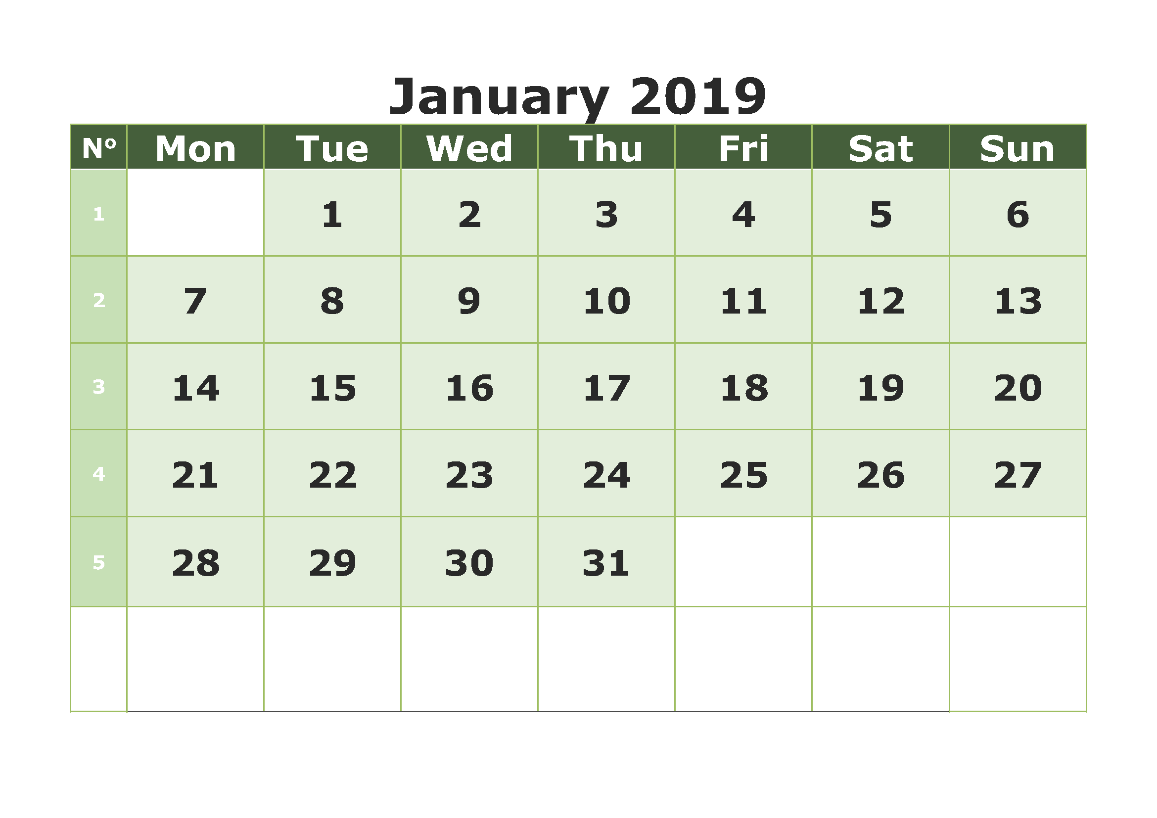january 2019 calendar template excel sheet january calendar 2019