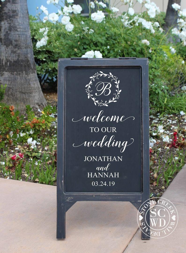 Wedding Sign Decals Welcome Wedding Decals Rustic