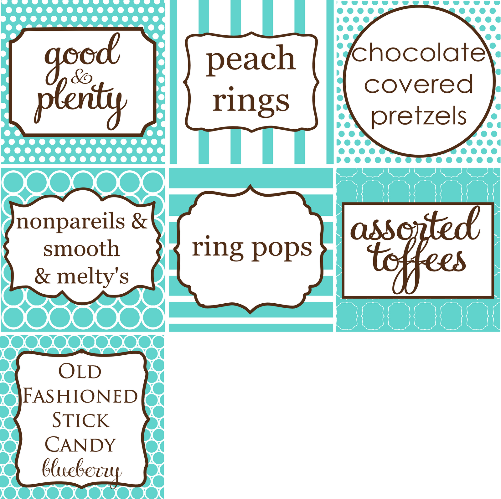 Cocktail Menu Candy Buffet Signs Sparkler Holders And Fan