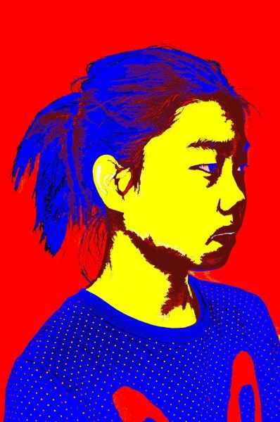 Portrait Using Primary Color Scheme