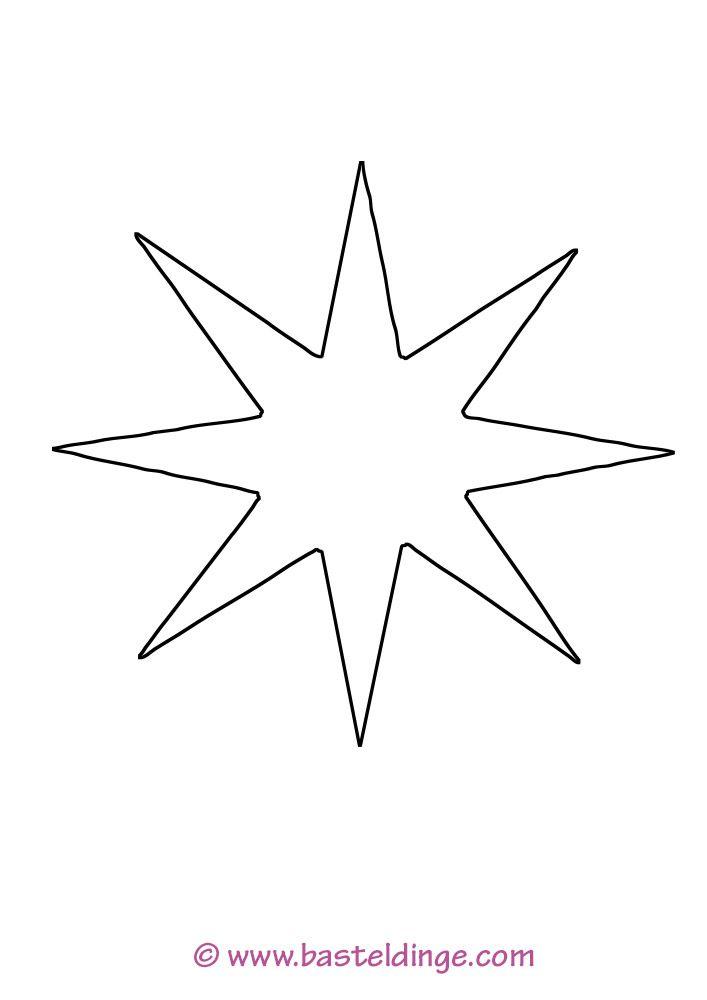 stern 8 zacken 01  malvorlage stern vorlagen sterne zum