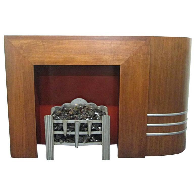 spectacular streamline art deco fireplace mantel mcm fire places rh pinterest com