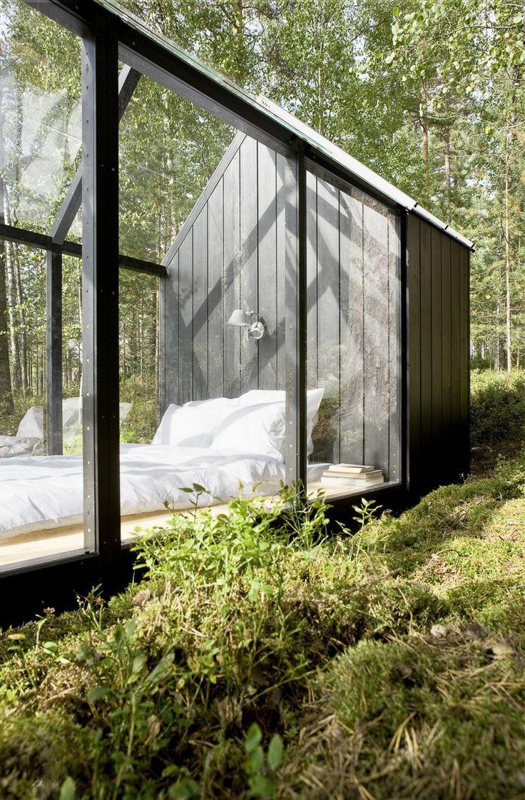 Garden Shed turned Glass Bedroom Finland Garden
