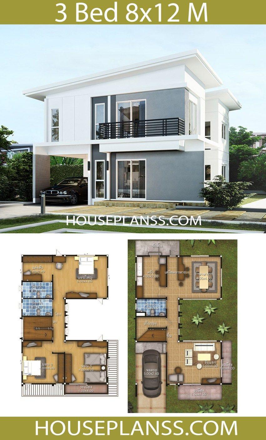 House Plans Idea 8x12 With 3 Bedrooms House Plans S Kerala House Design House Architecture Design House Design