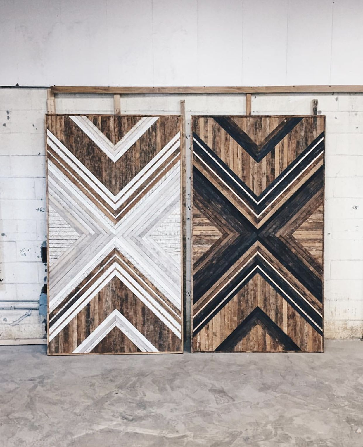 The pattern is a nice update on the barn wood sliding doors diy