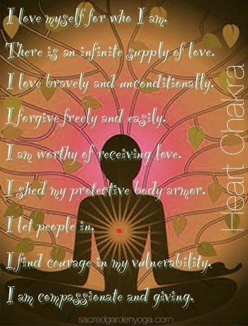 heart chakra / anahata affirmations chakrameditation