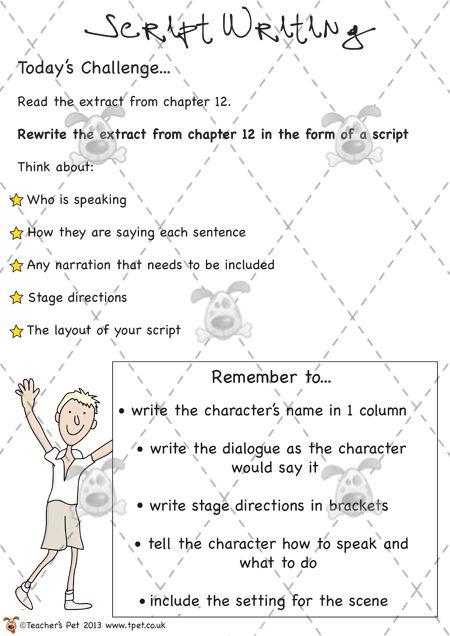 Teacher's Pet - James and the Giant Peach - Script Writing ...