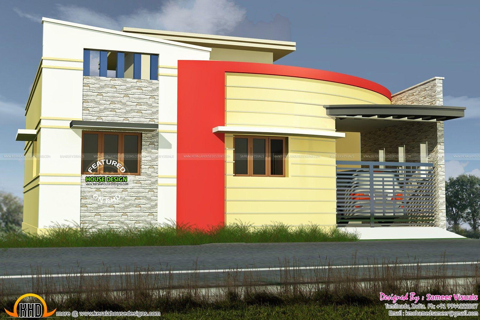 3 bedroom Tamilnadu style modern home single