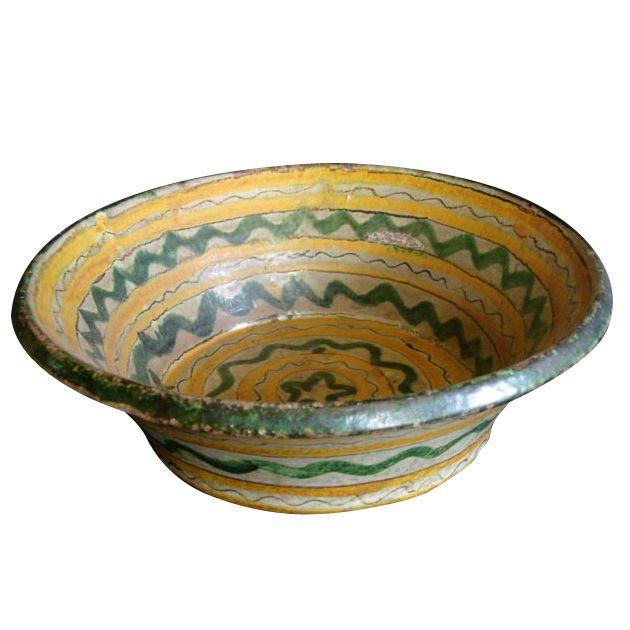 Unique Decorative Bowls Interesting 18Th19Th Century Majolica Ceramic Baptismal Bowl  Terracotta Decorating Design