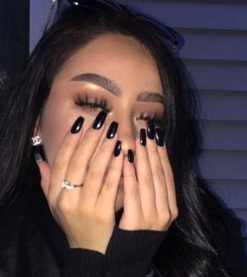 Toofacedd Toofacedd In 2020 Black Nails Cute Acrylic Nails Acrylic Nails