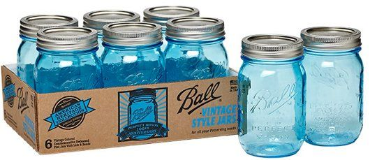 Look Brand New Blue Ball Canning Jars With Images Ball
