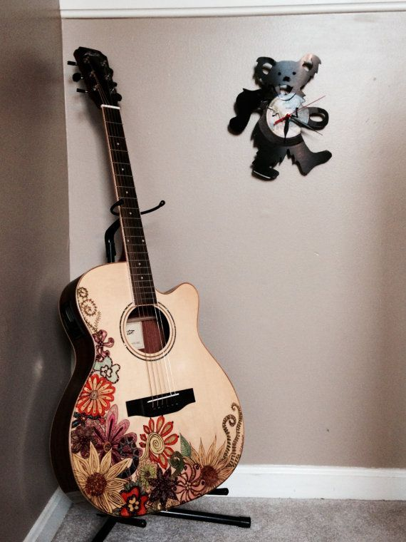 Pin By Sallie O On Sal Stuff In 2019 Guitar Painting Guitar