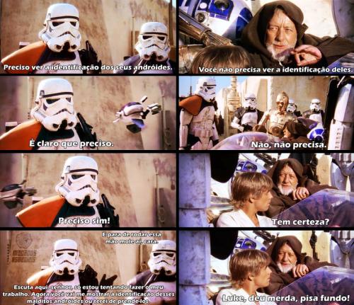 Taca-le pau nesse carrinho, Luke!
