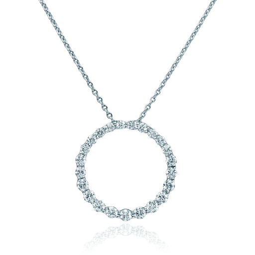 Rosendorff circle of love diamond pendant crafted in 18 carat white rosendorff circle of love diamond pendant crafted in 18 carat white gold featuring 23 round aloadofball Images