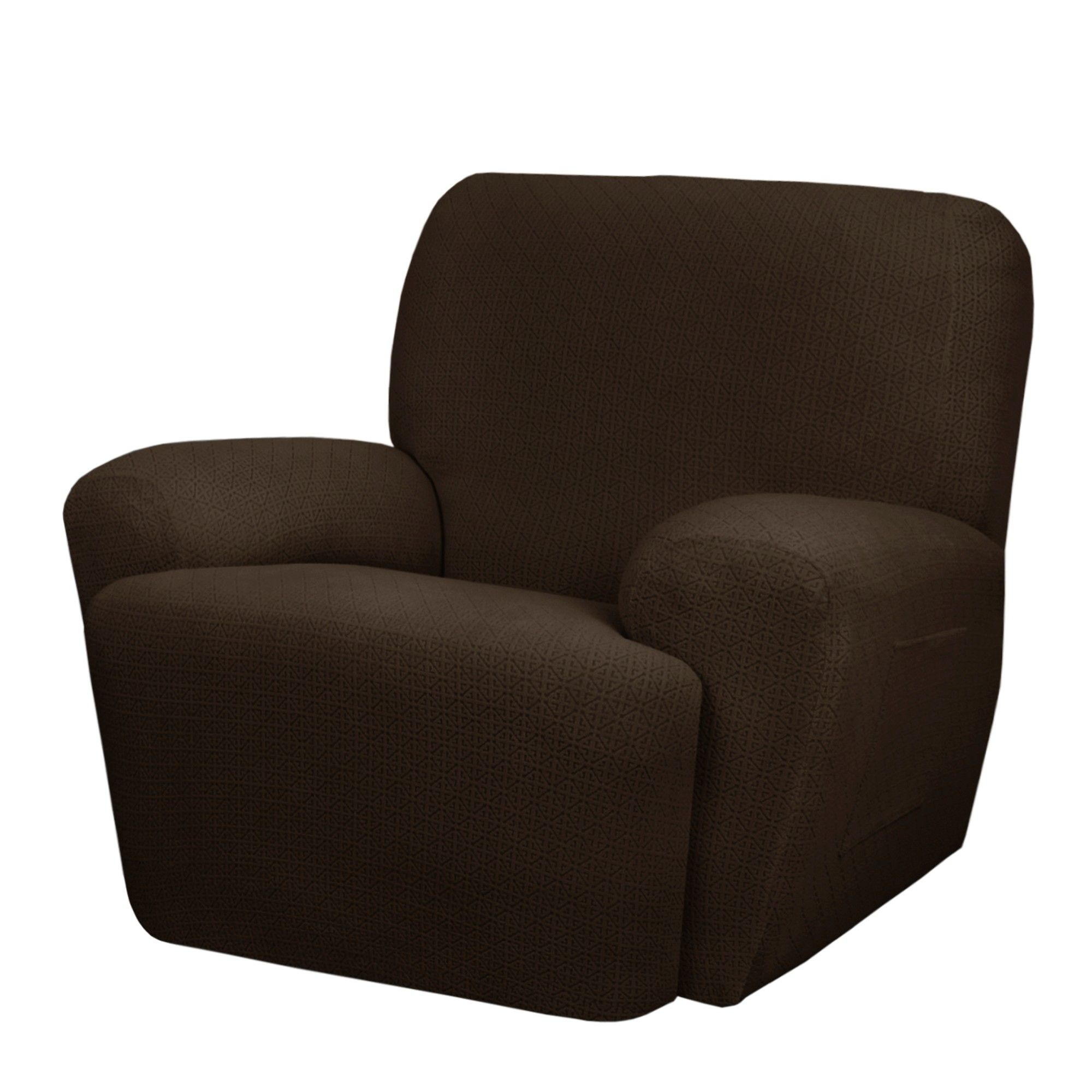 Swell Chocolate Torie Recliner Slipcover 4 Piece Maytex Brown Alphanode Cool Chair Designs And Ideas Alphanodeonline