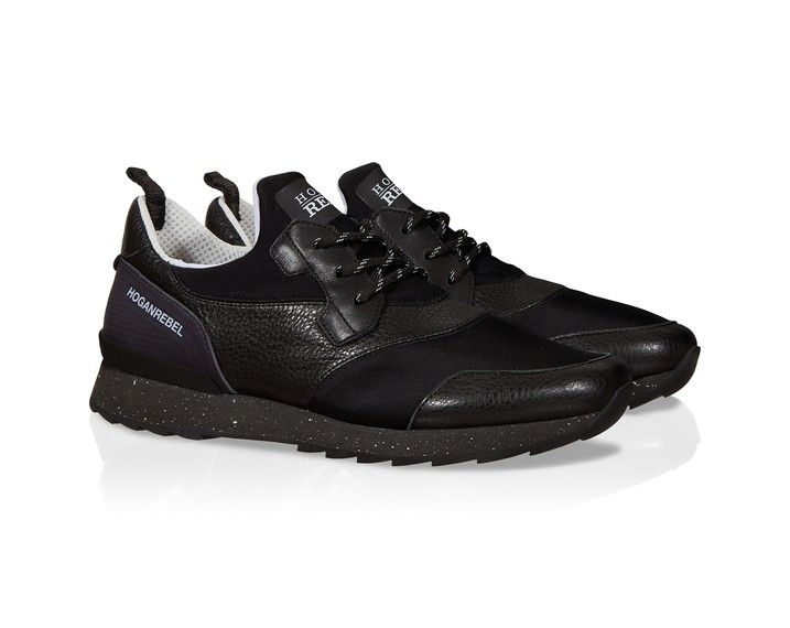 d95cfc2c9d Hogan Running black leather and fabric sneakers