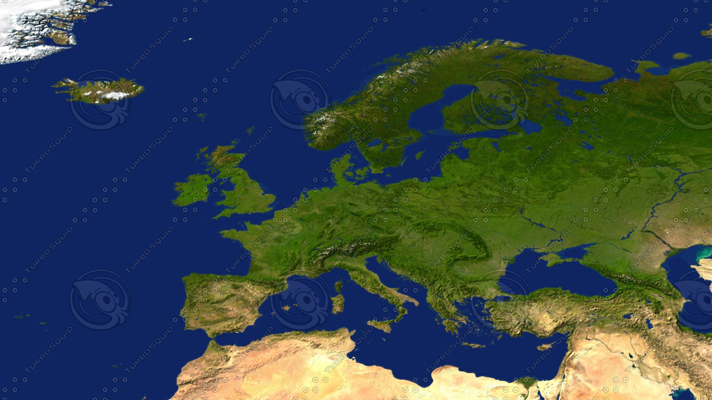 Map Showing Europe%0A  Dsmax Europe Maps   D Model