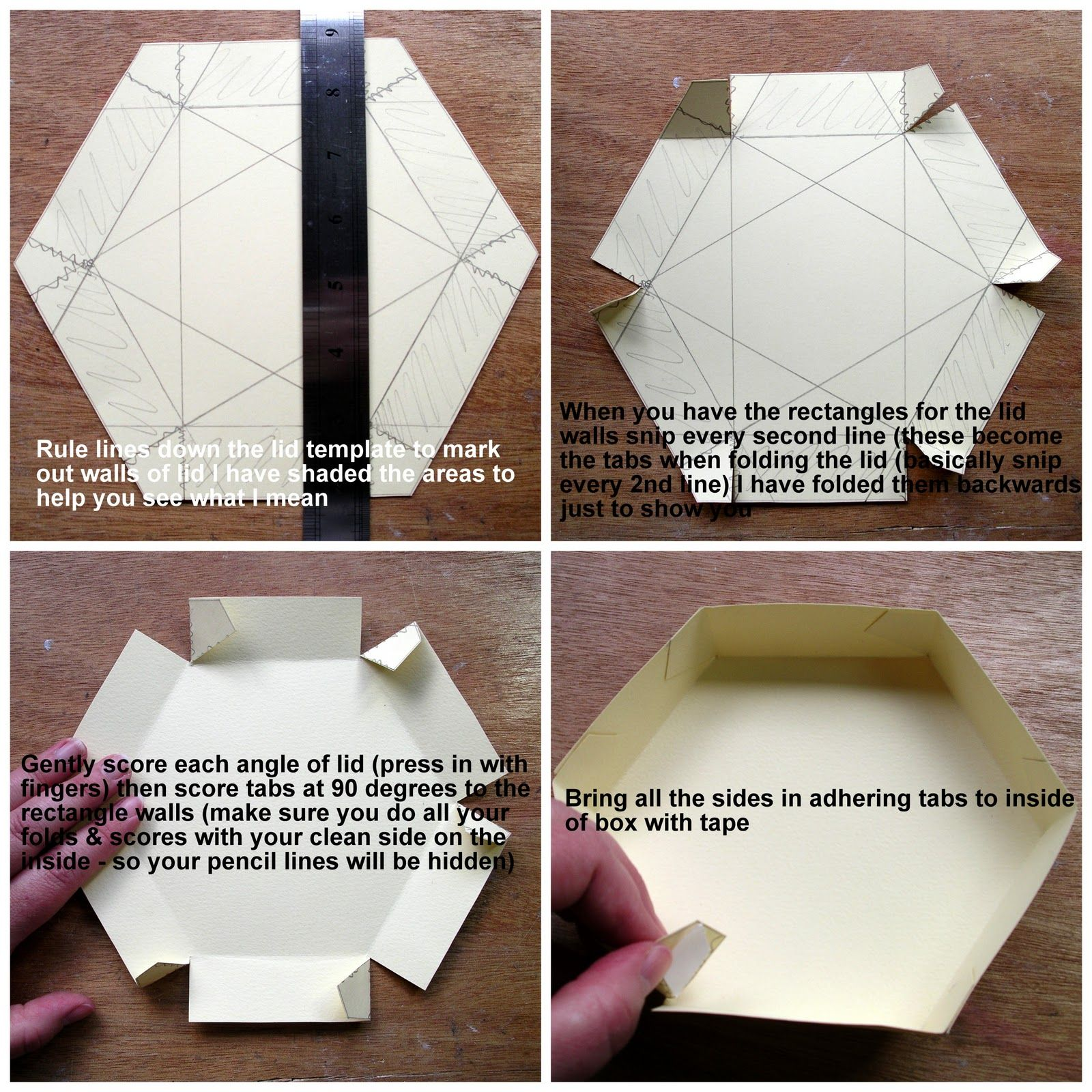 artfull crafts lisa with a tutorial for my hexagonal exploding