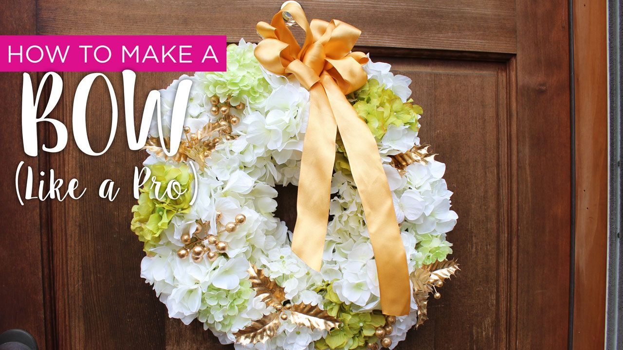 Learn how to make a bow like a pro with this DIY video! #afloral