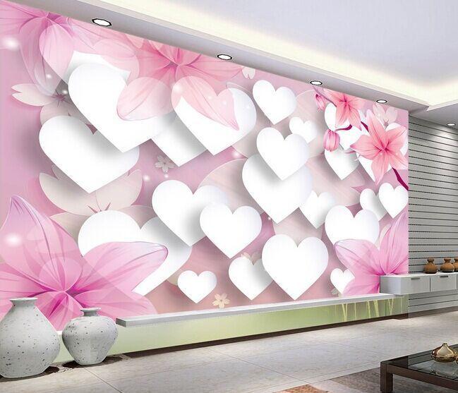 Romantic Love 3D TV Background Wallpaper The Living Room Sofa Bedroom  Background Wall Paper Wallpaper Modern