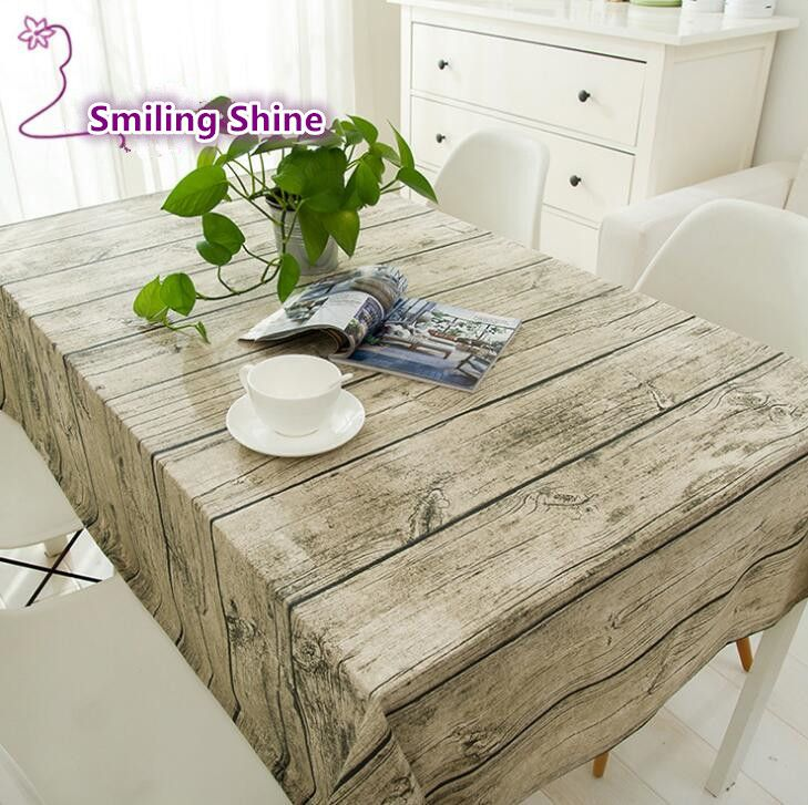 Simanfei Linen Tablecloth Burlap Table Runners Cheap Tablecloths For Sale  Wood Grain Simple High Quality Knitted