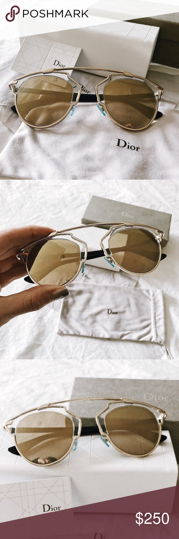 6662cdee49b5 Authentic Dior So Real Sunglasses Used AUTHENTIC Dior So Real sunglasses in  GREAT condition. Comes with box, box case, fabric case, lens wipe, Dior  card.