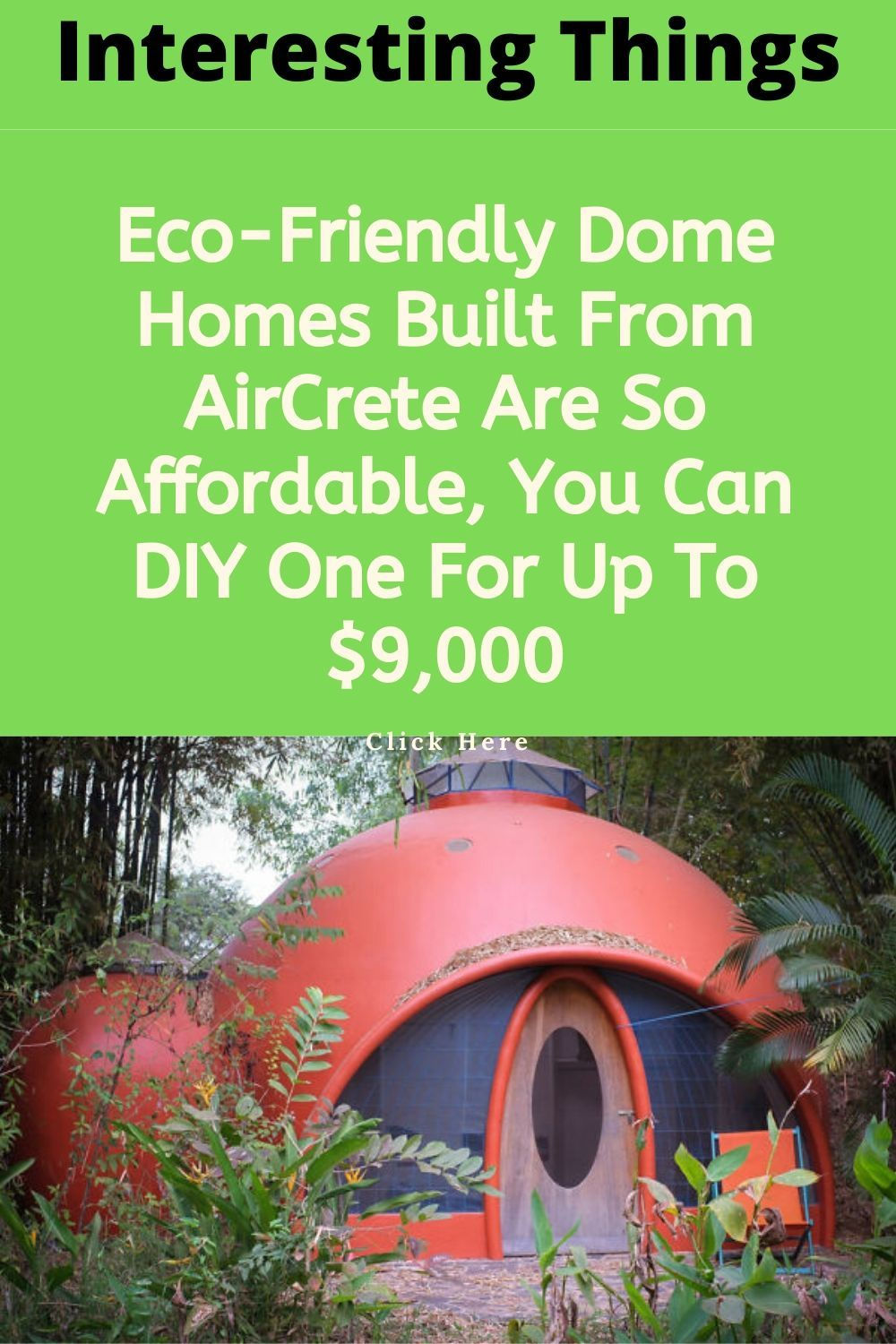 Eco Friendly Dome Homes Built From Aircrete Are So Affordable You Can Diy One For Up To 9 000 In 2020 Eco Friendly At Home Workout Plan Friendly