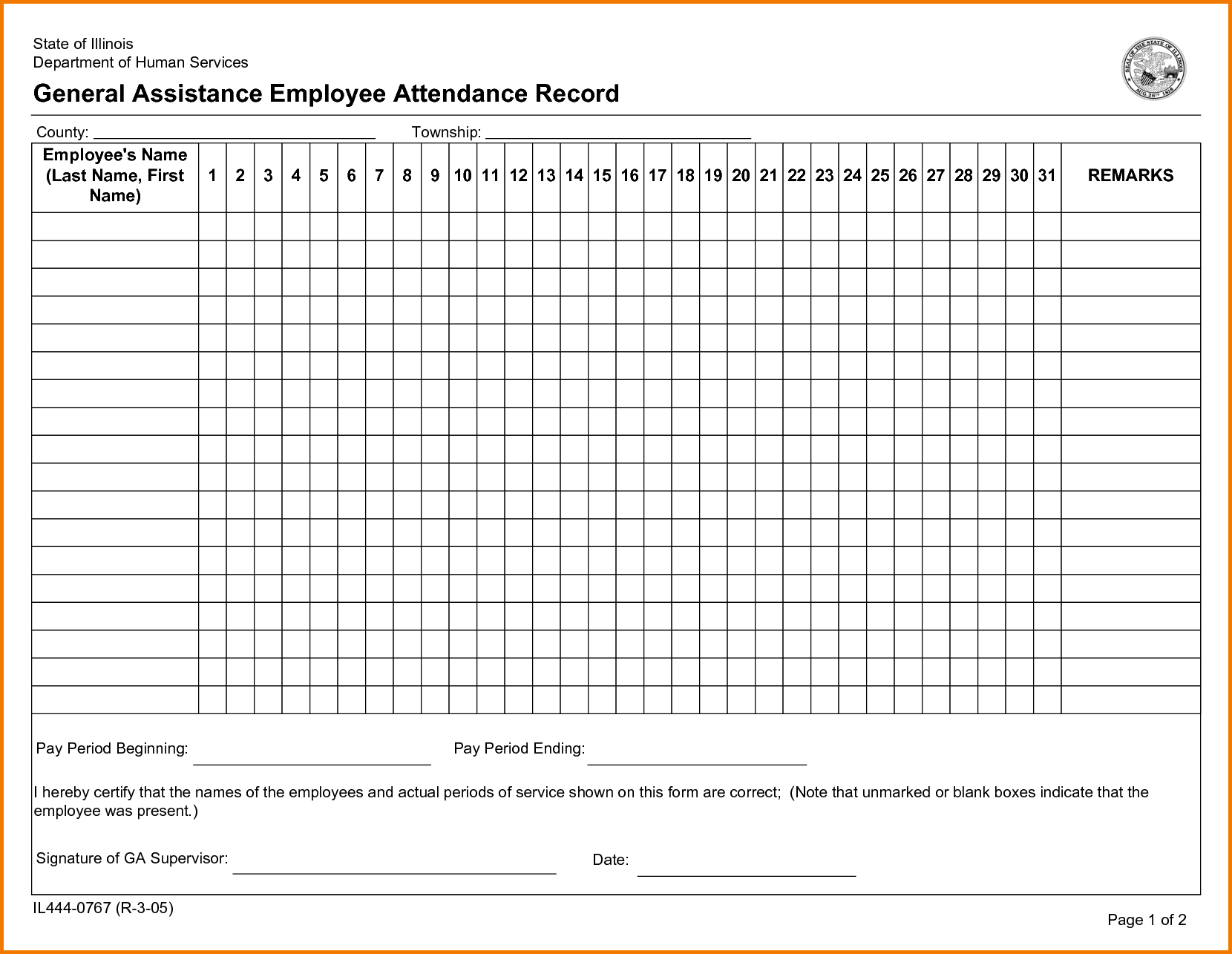 Unique Free Printable Attendance Sheets Xlstemplate