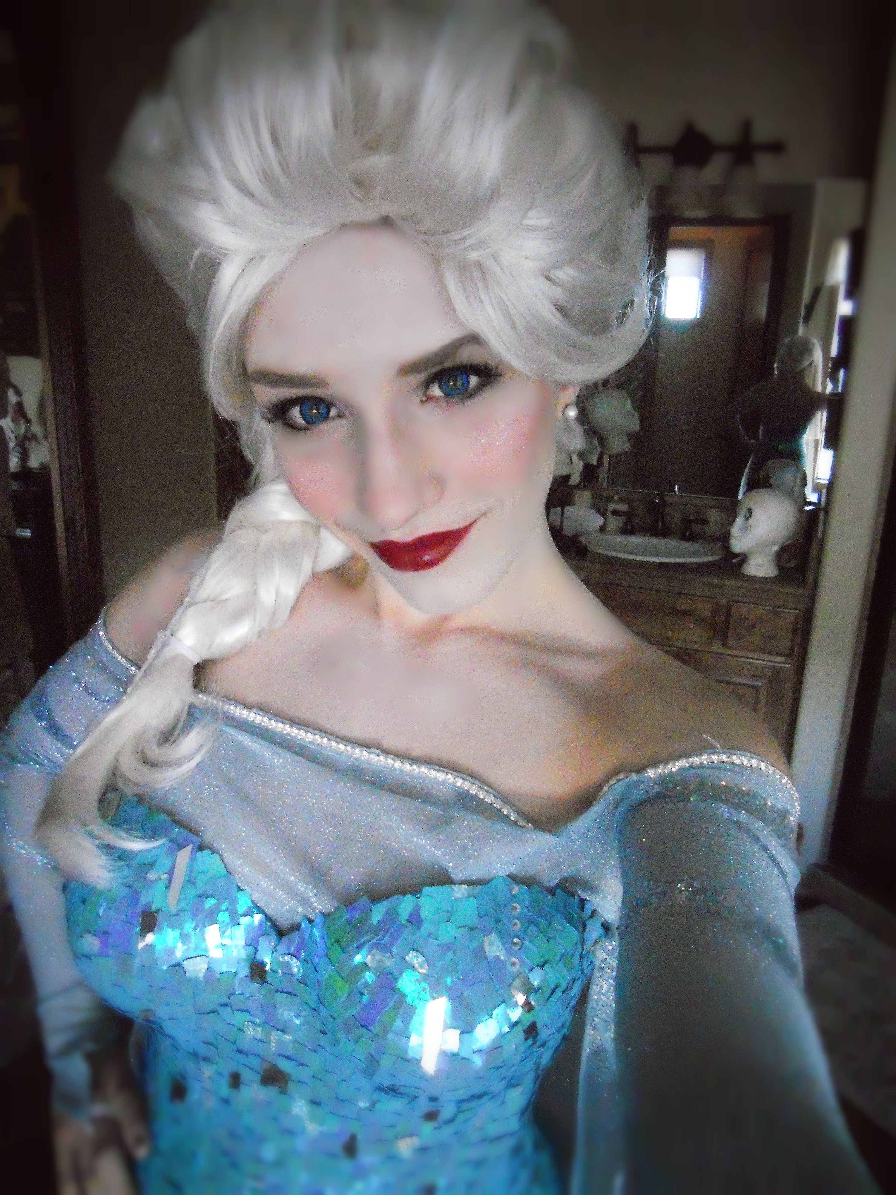 Elsa cosplay from Disney s Frozen Oh maybe I will be Elsa for