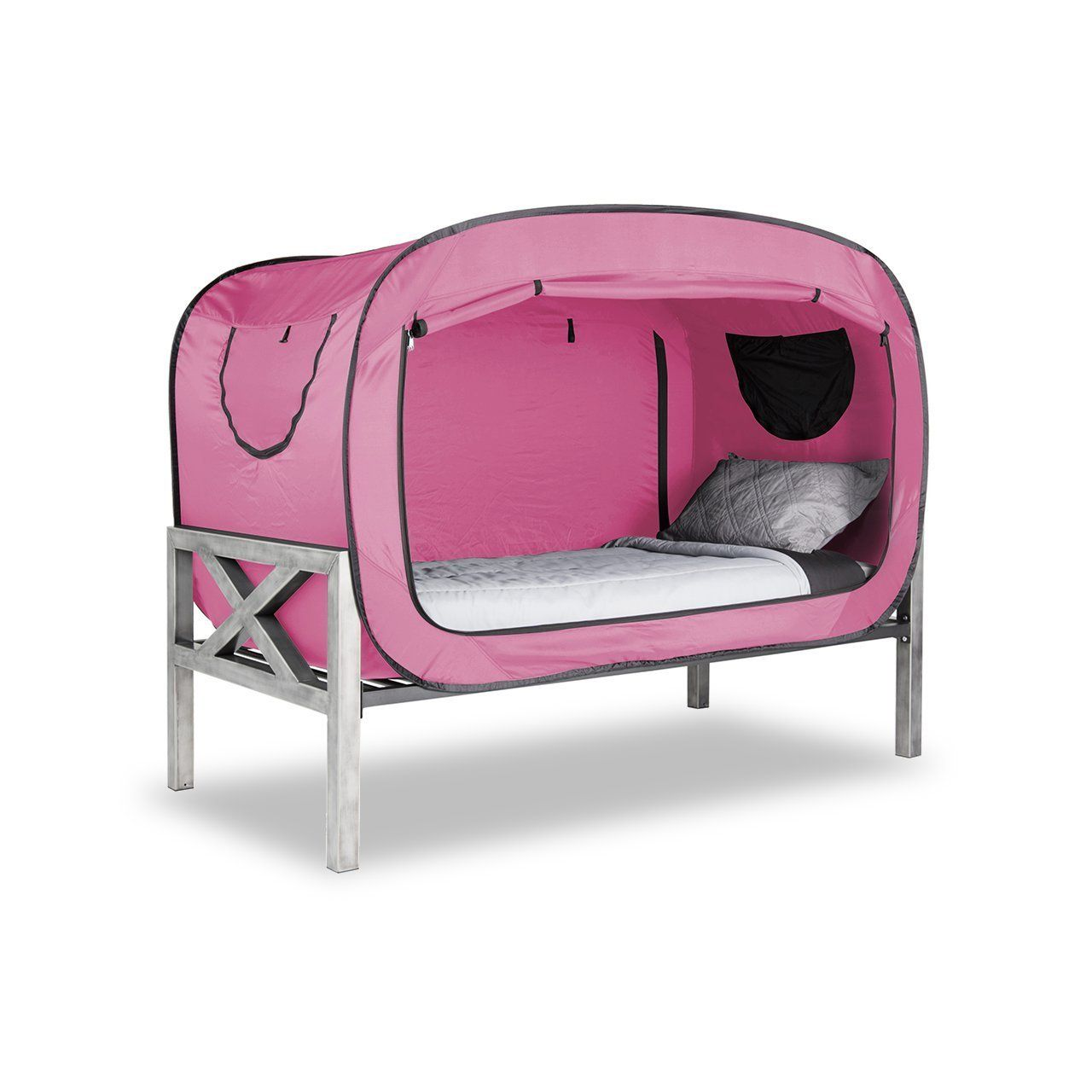 Privacy Pop Bed Tent Part - 26: Amazon.com: Privacy Pop Bed Tent (Twin) - PINK: Toys U0026 Games