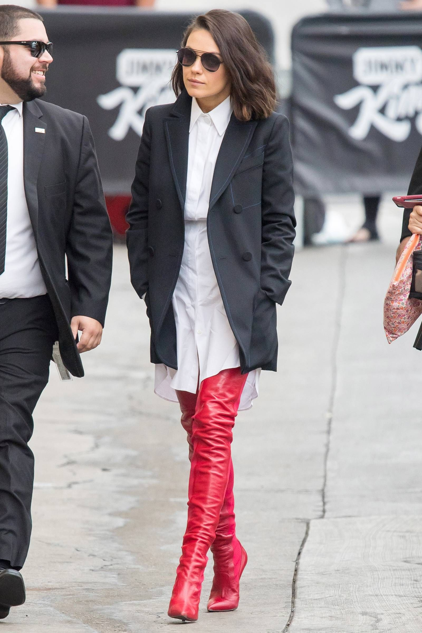 c691877108e Mila Kunis Wore a Red-Hot Pair of  1