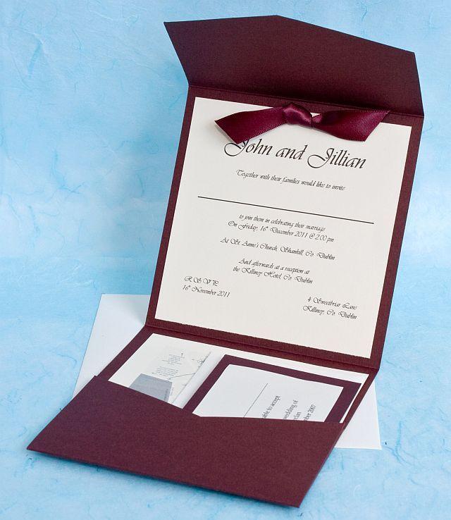 Pocket fold invitation template   Pocketfold Invitation Template