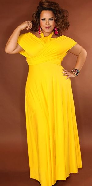 yellow plus size bridesmaid dresses | plus size canary yellow ...
