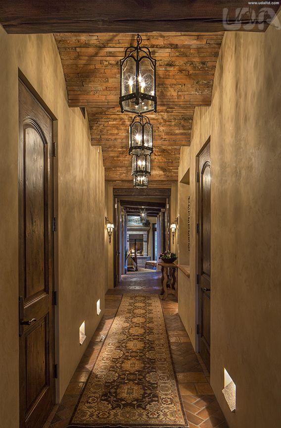 tuscan hallway brick ceilings nature inspired interior design rh pinterest ie