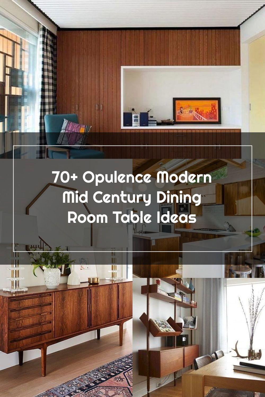 70+ Opulence Modern Mid Century Dining Room Table Ideas #diningroom #diningroomtable #tableideas