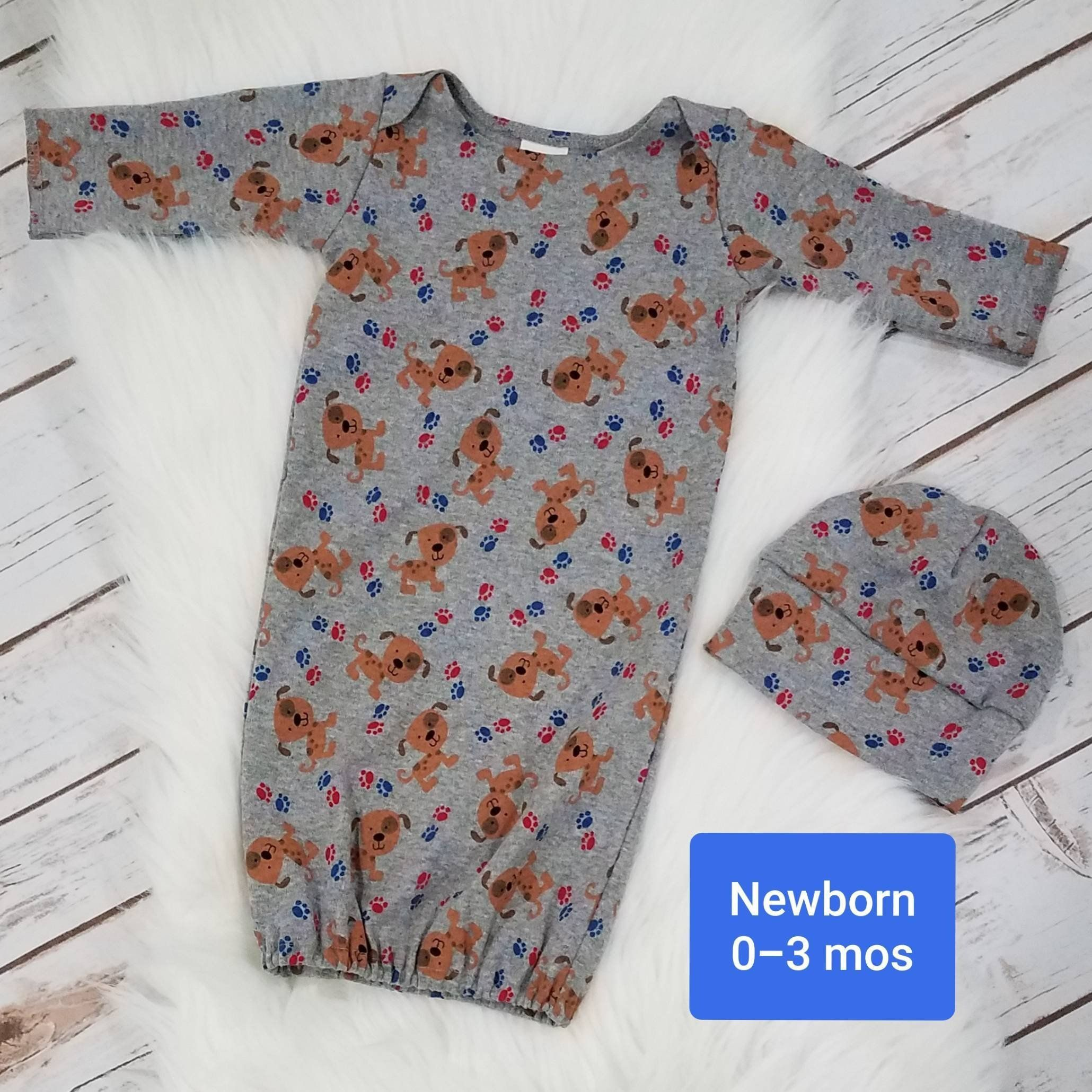 Baby Night gown Layette Newborn baby gown sleep suit Cotton