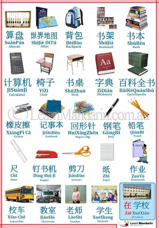 how to say school in mandarin
