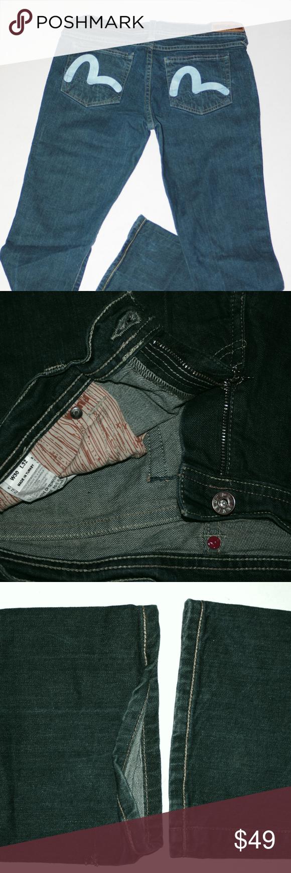 0ff13bf0ae1e Evisu x Puma collab Japanese Blue Jeans Stretch Puma x Evisu Jeans  collaboration Japanese Blue Jeans Stretch Denim Glove Fit Tag Size 30x32 Puma  Jeans ...