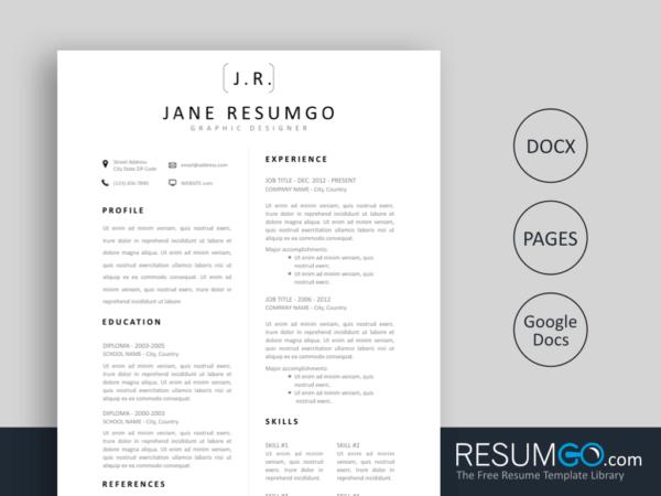 Pin Di Resume Template Online Free Download