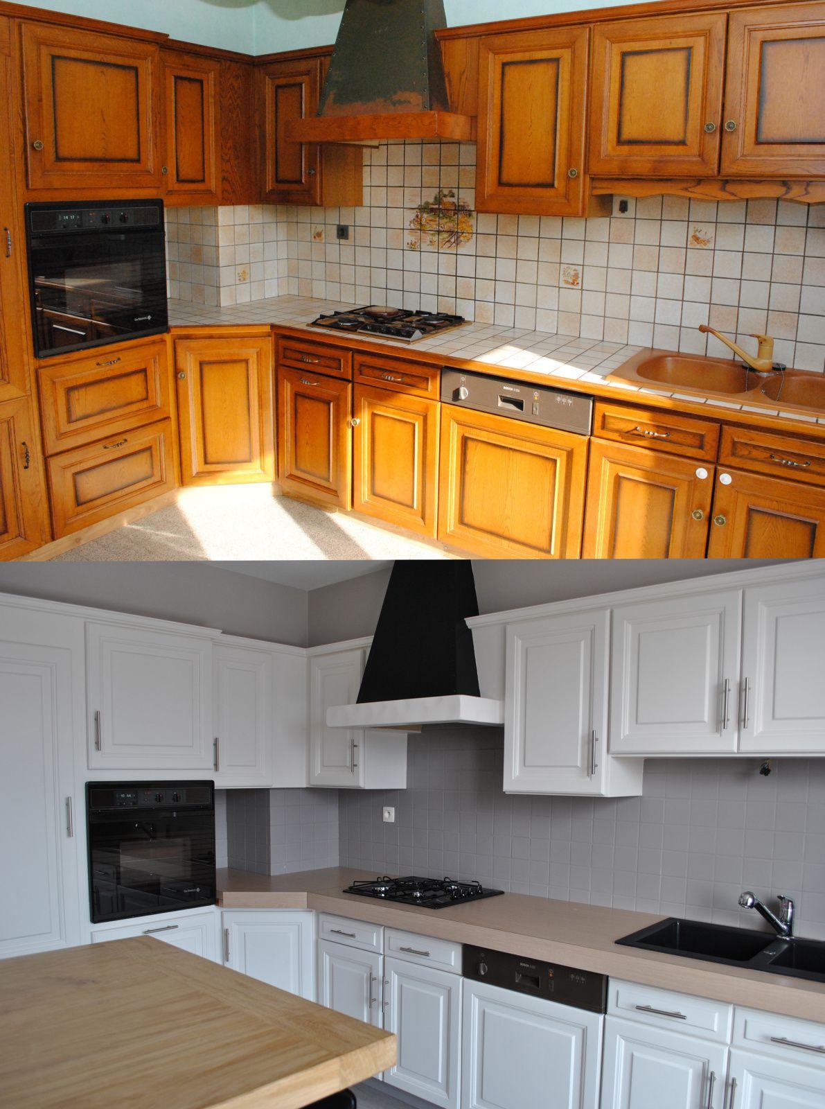 lorsque que nous avons achet notre appartement la cuisine datait des annes 80 et navait pas souvent t rnove les meubles ont t ponc