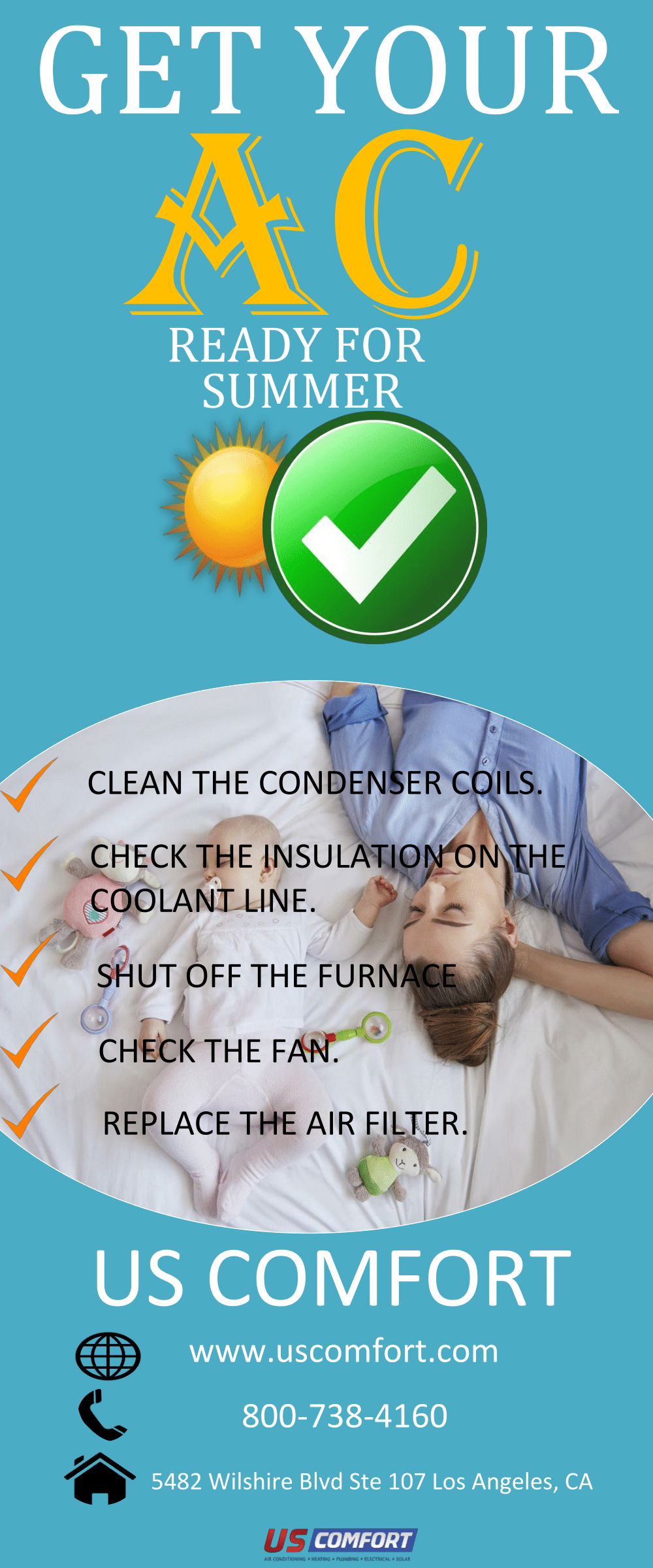 US Comfort is the air conditioning, heating, plumbing, and