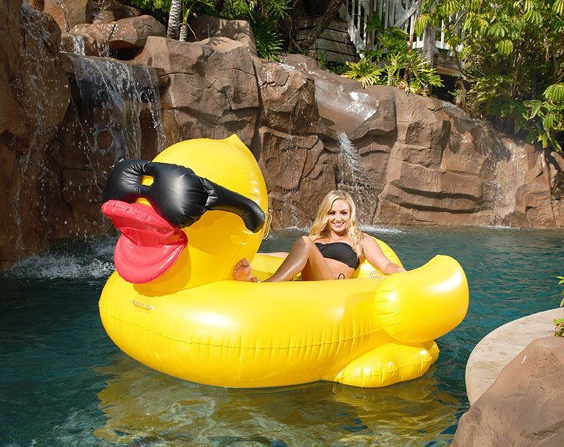 Charmant ... Giant Pool Floats By Whichinflatable. GAME Derby Duck Inflatable