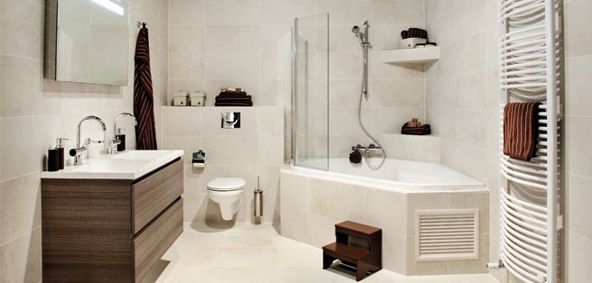 Is een hoekbad praktisch bij ons verder niet mooi badkamer pinterest hoekbad badkamer - Badkamer in lengte ...