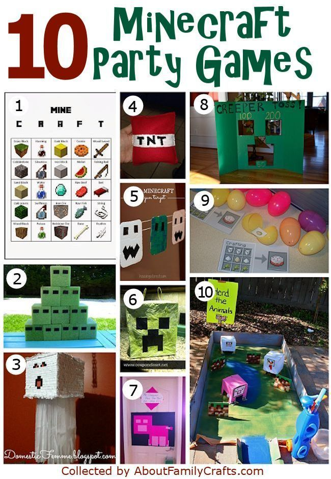 mind craft videos 50 diy minecraft birthday ideas about family 2439