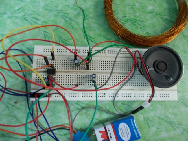 Simple Metal Detector Circuit Diagram