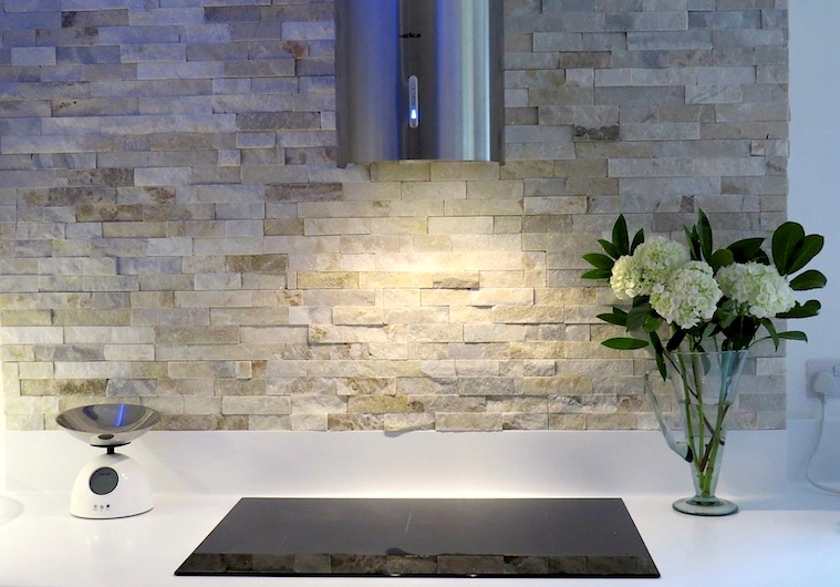 Cream Quartz Split Face Mosaic Ledge Stone Feature Wall Tiles Only £ 28.99  Per Sqm /m2