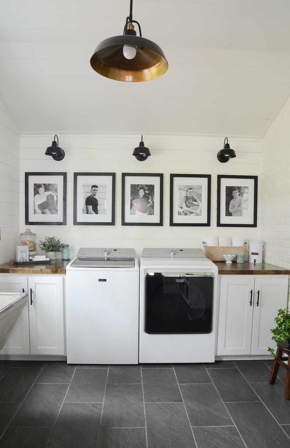 Modern Farmhouse Laundry Room Reveal Home Decor and