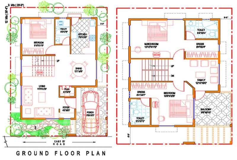 30x40 two story house map house design pinterest for 30x40 2 story house plans